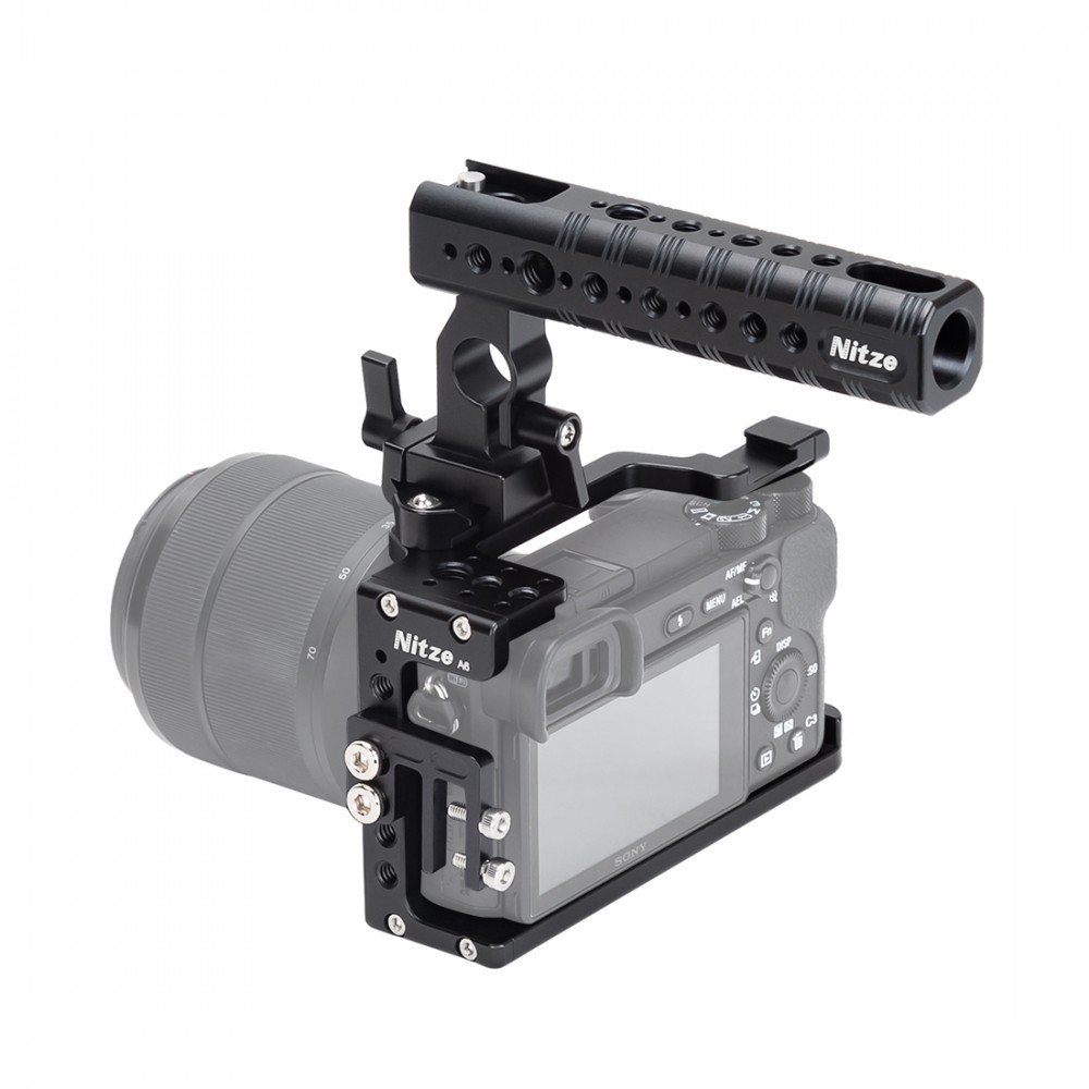 Nitze Camera Cage Kit for Sony A6000/A6300/A6400/A6500 - SHT-A6
