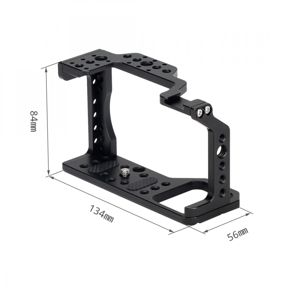 Nitze Camera Cage for Sony A6000/A6300/A6400/A6500 Camera with HDMI Cable Clamp and Built-in Cold Shoe - TP-A6