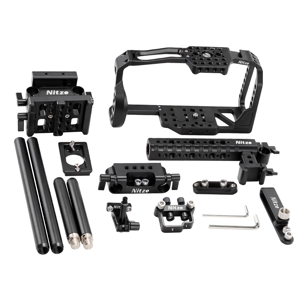 Nitze BMPCC 4K Camera Cage Kit for Blackmagic Pocket Cinema Camera 4K - BTK01