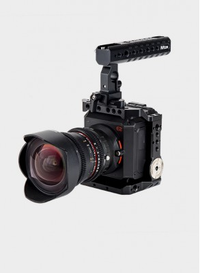 Nitze Cage for Z CAM E2 Camera with NATO Handle Grip and HDMI & USB Cable Clamps -ZHT-E2-II