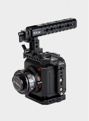 Nitze Basic Cage Kit for Z CAM E2 Camera with NATO Handle Grip - ZHT-E2