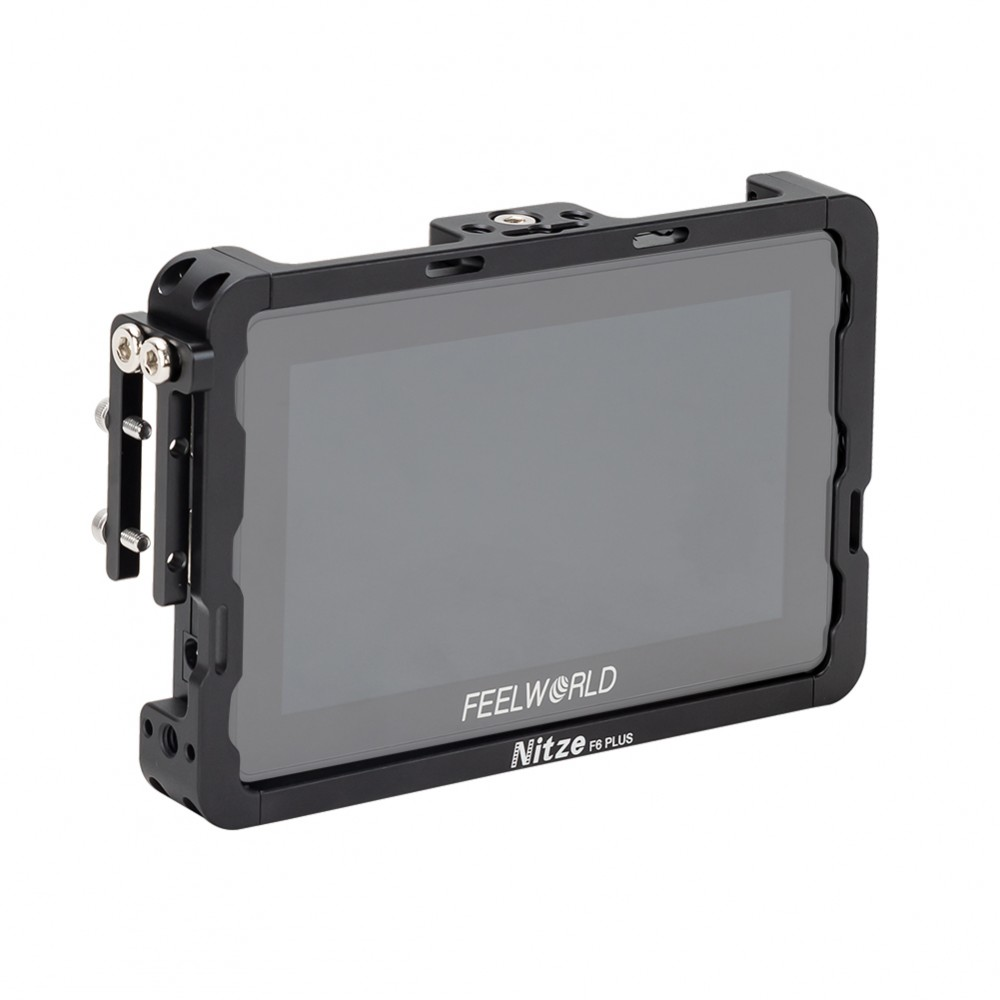"Nitze 5.5"" Monitor Cage for Feelworld F6 Plus Monitor with HDMI Cable Clamp - TP-F6PLUS"