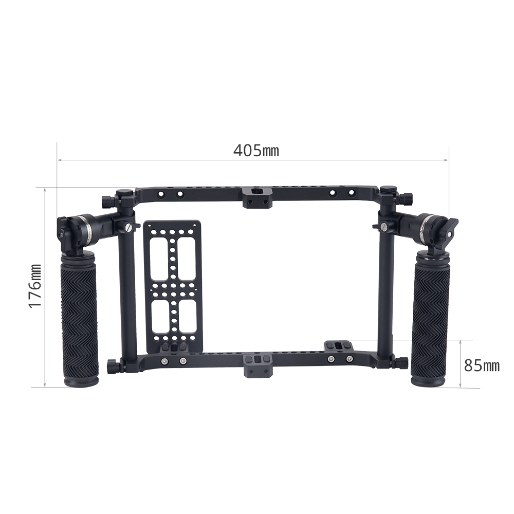 Nitze Director's Monitor Cage with Adjustable ARRI Rosette Handles - JSQ-002