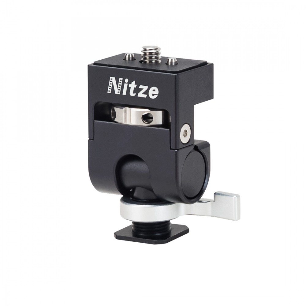 """Nitze Elf Series Monitor Holder (QR Cold Shoe to 1/4""""-20 Screw with ARRI Locating Pins) - N54-G1"""