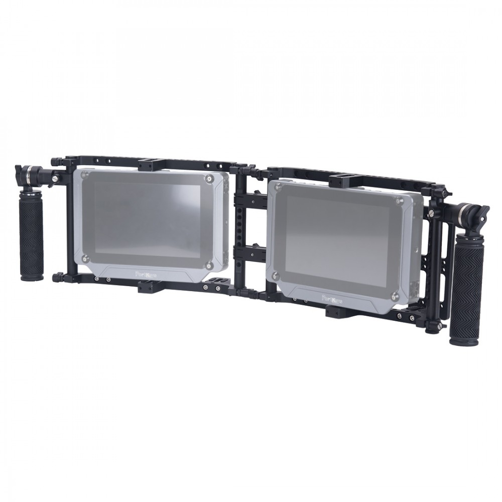 Nitze Dual Director's Monitor Cage with Adjustable ARRI Rosette Handles - JSQ-002TS